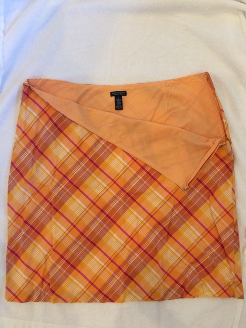 American Eagle Outfitters Skirt Orange plaid Image 1