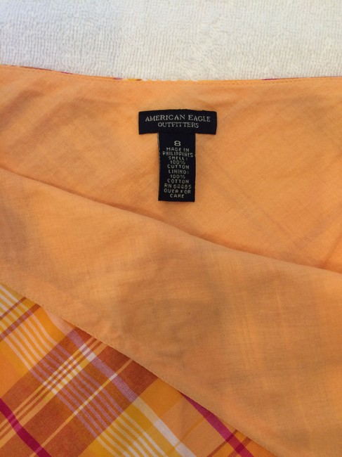 American Eagle Outfitters Skirt Orange plaid Image 2