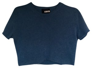 Reformation Crop Vintage T Shirt blue