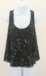 DEB Mesh Full Sequin Top Black