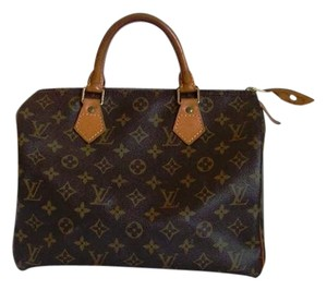 Louis Vuitton Speedy Speedy 30 Monogram Designer Women's Satchel in brown