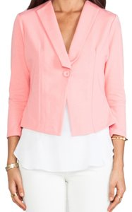 Jack by BB Dakota Stretchy Tailored Salmon Pink Rose Blazer