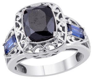 unknown Thai Black Spinel, Blue Sapphire Ring