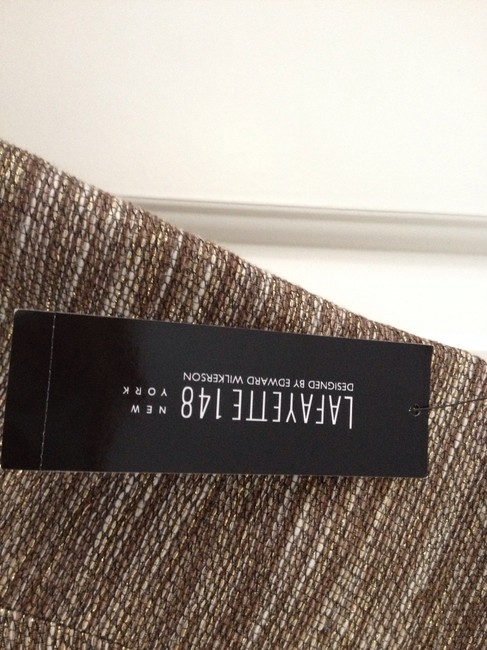 Lafayette 148 New York Skirt Gold and brown