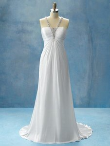 Alfred Angelo Diamond Silk White Chiffon Jasmine 202 Disney Fairy Tale Collection Destination Wedding