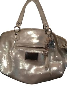 Coach Satchel in Cream sequins