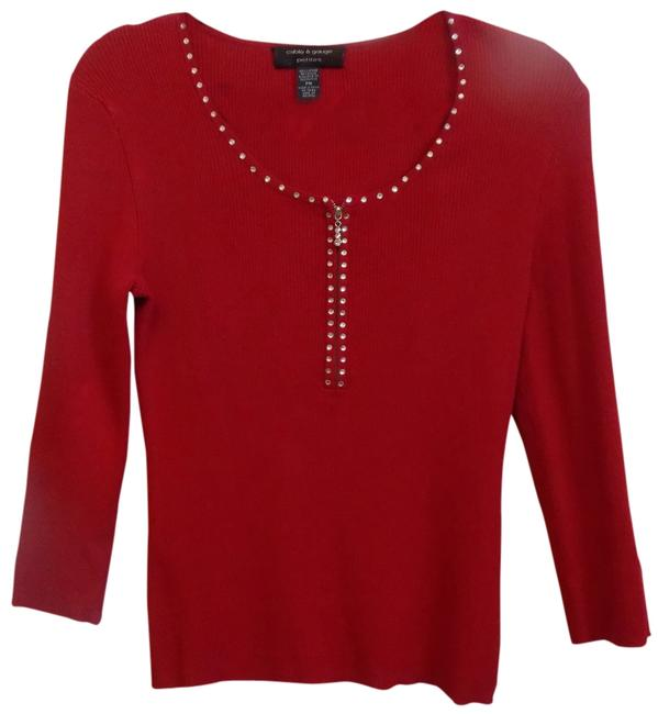 Preload https://img-static.tradesy.com/item/763741/cable-and-gauge-red-sweaterpullover-size-petite-10-m-0-0-650-650.jpg