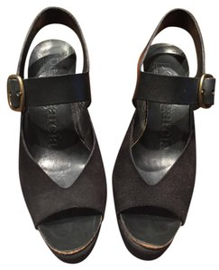 Pedro Garcia Black Wedges