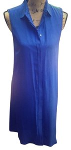 J.Crew short dress Blue Silk Sleeveless Day Cobalt on Tradesy