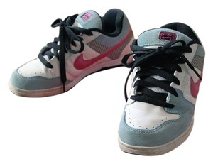 Nike Skate Leather Suede Baby blue, white, pink Athletic