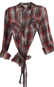 Cache Wrap Top Plaid