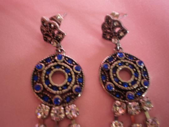 Other New White and Blue Austrian Crystal Earrings in Stainless Steel