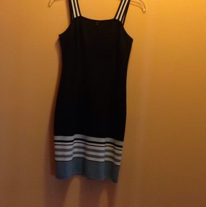 Chanel Beaute short dress Black with blue stripes on Tradesy