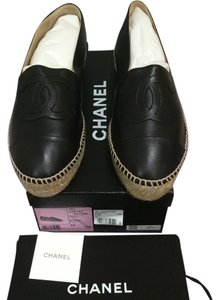 Chanel 2016 Cruise Espadrille Black Flats