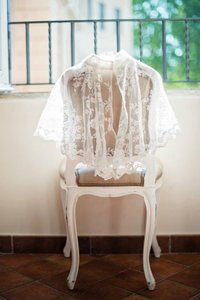 Custom Made Mandarin Collar Lace Bolero