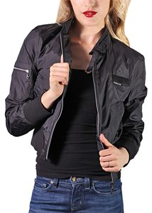 Members Only Sexy Sporty Moto Black Jacket