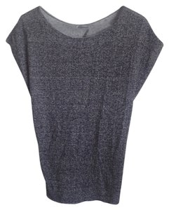 Urban Outfitters Top Marl Grey Black