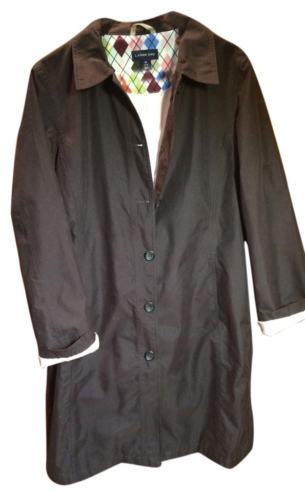 80c923f6c5872 Lands' End Brown Coat Size 10 (M) - Tradesy