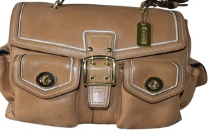 Coach Satchel in Tans and Cream