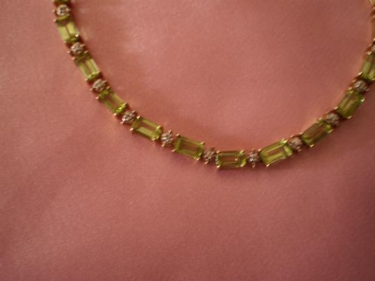 Other Diamond & Peridot Gold Bracelet