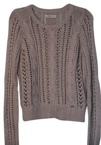 Abercrombie & Fitch Cable Knit Abercrombe Grey Sweater