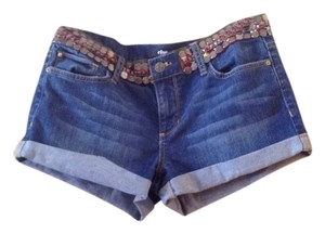Else Denim Detailed Cuffed Shorts Denim/Blue