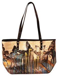 Nine West Sequin Butterfly Purse Tote in Multi