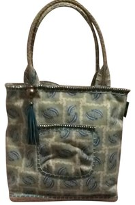 Sigrid Olsen Tote in Lime Blue And White