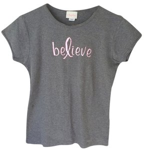 Think Pink Size Small T- Logo T T Shirt Grey