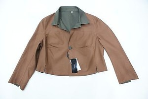 Akris Akris Caramelrustbrown Olive Reversible Cotton Lexy Jacket