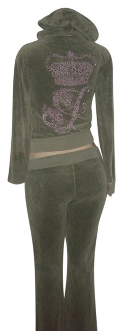 Item - Olive Pre Owned Green Pink Graphic Lounge Hoodie Set S/M Pants Size 6 (S, 28)