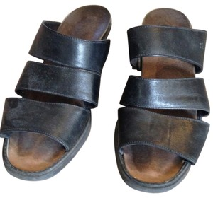 Naot Black Leather Sandals