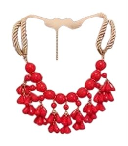 Dry Goods Red Statement Neclace