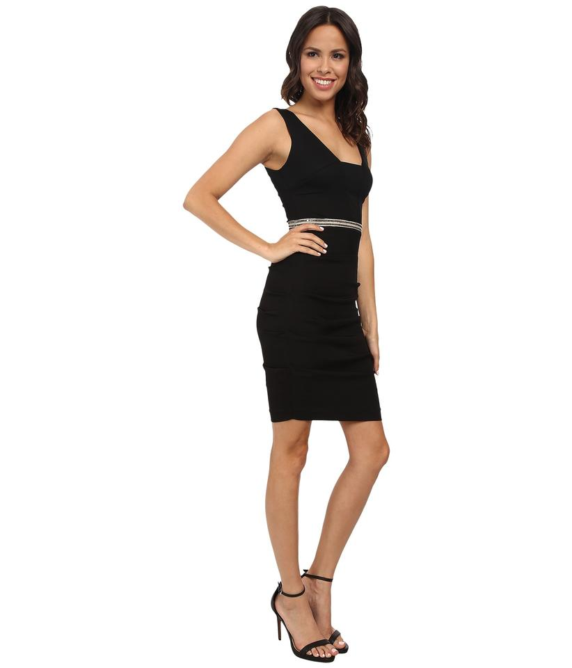 Nicole miller black tieback style bd3218 knee length cocktail dress size 6 dress 123 ombrellifo Choice Image