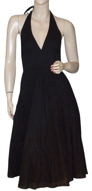 J.Crew short dress Black Halter Cotton on Tradesy