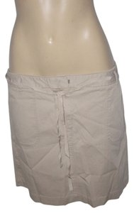 Ann Taylor LOFT Mini Skirt Natural