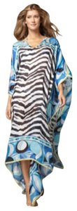 Blue with zebra print Maxi Dress by Emilio Pucci
