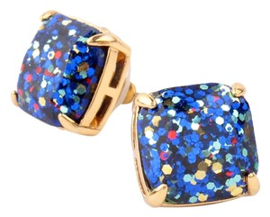 Kate Spade NEW Kate Spade New York Blue Sapphire Square Glitter Studs - 12k Studs