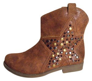 Big Buddha Faux Leather Vegan Studded brown Boots