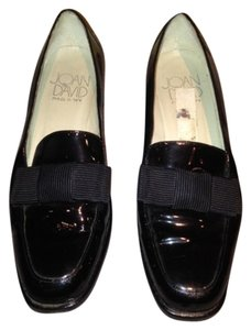 Joan & David Vintage Leather Black Paten Flats
