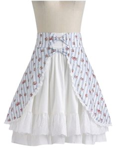 Hell Bunny Skirt Blue and white