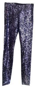 American Apparel Lavender metallic and black Leggings