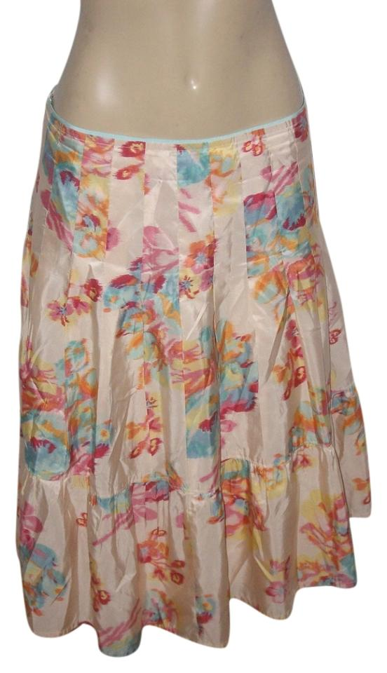 22a3791f65 Banana Republic Multicolor Silk Floral Fully Lined Skirt Size 6 (S ...