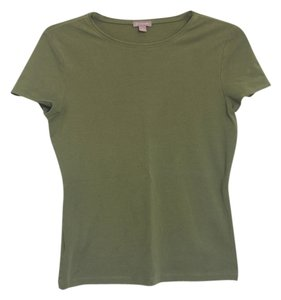 Ann Taylor Basic T Shirt Green