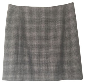 Banana Republic Mini Sexy Checked Mini Skirt Gray pattern
