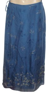 INC International Concepts Maxi Skirt Blue