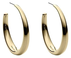 Michael Kors Womens Stainless Steel Hoop Earrings