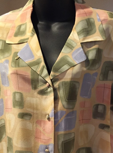 Lord & Taylor Silk Top Pastel Colors Image 2