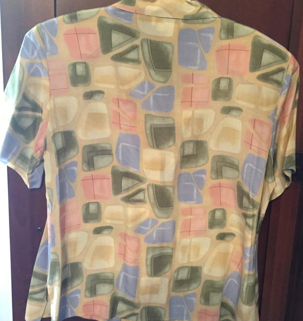 Lord & Taylor Silk Top Pastel Colors Image 4