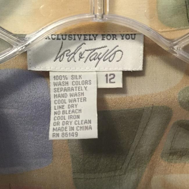 Lord & Taylor Silk Top Pastel Colors Image 5